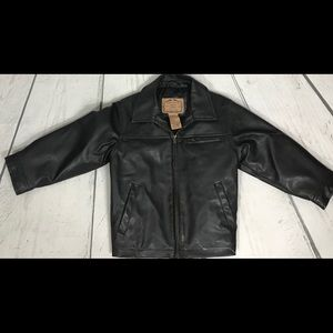 Whispering Smith Boys 3T Faux Leather Jacket